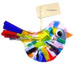 Grote vogel van prachtig gekleurd glas. Glasfusing decoratie vogel uit eigen atelier!