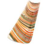 Exclusieve design schaal van speciaal oranje-bruin-turquoise glas. Handgemaakte glazen schaal uit eigen atelier.