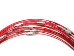Rode spang ketting met draaisluiting in 43 cm lengte