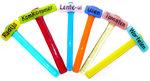 Unieke glazen groente labels van kleurrijke glas! Naambordjes voor de moestuin!