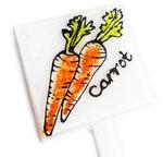 Handgemaakte glazen plantensteker Carrot - Wortel