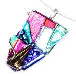 Prachtige gekleurde glashanger voor aan een ketting!