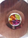 Exclusieve glaskunst in hout. Glazen eyecatcher