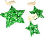 Gerecycled groene kerst sterren!