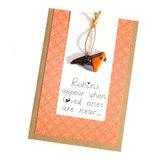 """Wenskaart - Roodborstje """"Robins appear...""""_"""