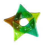 Groene kerstster van speciaal glas. De mooiste kerst decoratie sterren!