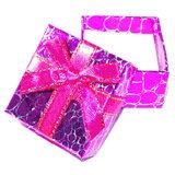 Luxe gekleurd cadeaudoosje met strik, per stuk_
