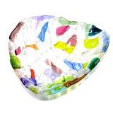 Kleurrijke glazen schaal van speciaal glas