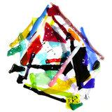 Gekleurde raam hanger van glas