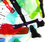 Unieke glaskunst raamhanger opengewerkt glas