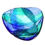Handgemaakt blauw glazen schaaltje