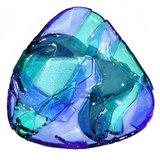 Glazen kommetje van blauw glas