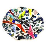 Glaskunst schaal gemaakt van de mooiste glassoorten