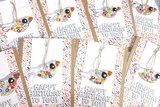 Verjaardagskaarten met handgemaakte glaskunst vogeltjes