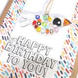 Verjaardagskaart gefeliciteerd met je verjaardag. Kaart met cadeautje!