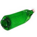 Glazen flessen schaal van een groene Beerenburger fles. Unieke serveerschaal voor hapjes!