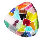Prachtig gekleurd glas schaaltje gemaakt met glasfusing! Uniek schaaltje/kommetje!