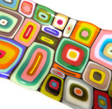 Prachtige kleurrijke schaal van multicolor glas!