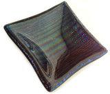 paars-groen-blauw gestreept metallic glazen schaaltje