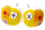 Handgemaakte gele millefiori oorstekers. Chirurgisch staal oorbellen!