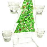 Kerstversiering met kaarsenhouder
