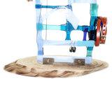 Achterkant blauw glazen sieradenrek, persoonlijk gesigneerd.