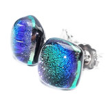 RVS oorbellen die verkleuren van grijs-paars naar groen-blauw!