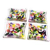 Gekleurde glasfusing schaaltjes gemaakt van het mooiste gekleurde glas. Set van 4 schaaltjes.