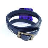Wikkelarmband Blue Millefiori_