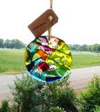 Raamhanger van gekleurd glas. Unieke glaskunst raam decoratie hanger!
