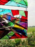 Glaskunst raam decoratie gemaakt van het mooiste glas!