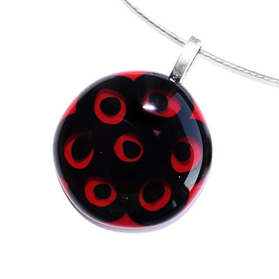 Millefiori Glashanger Eyes In Red