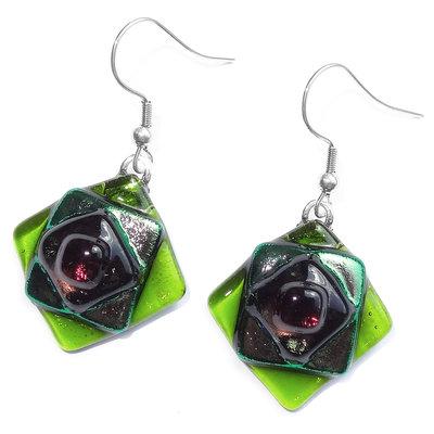 Oorbellen Green Diamond