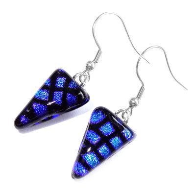 Oorbellen Triangle Blue