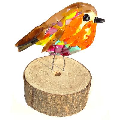 Glasfusing Object Magic Robin