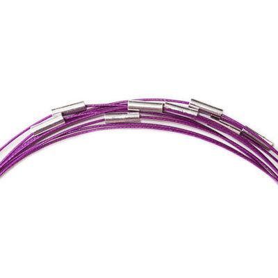 Spang met magneetsluiting, Paars, 49 cm.