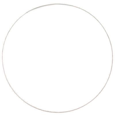 RVS ketting, 45 cm. lengte, 1 mm glad staaldraad