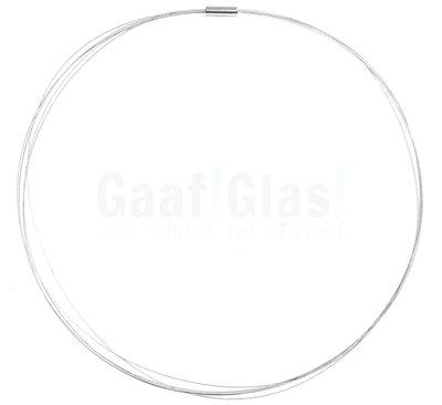 Draad ketting met magneetsluiting, Zilvergrijs, 48 cm.