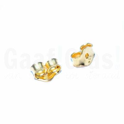 Oorbel achterkantjes, 22K Goud vermeil, per paar