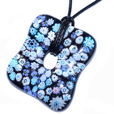 Millefiori Glashanger Blue And Black