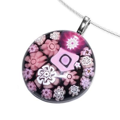 Millefiori glashanger Pink Special
