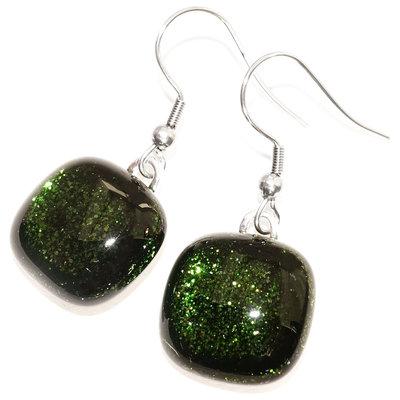 Oorbellen Green Sparkle