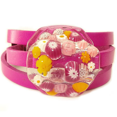 Wikkelarmband Pink Yellows