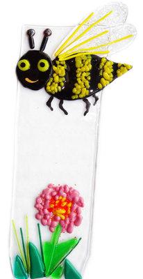 Glazen plantensteker - Happy Wasp