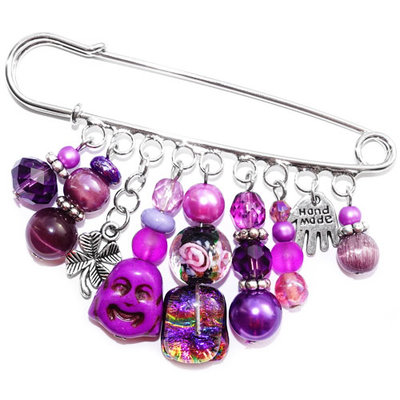 Broche Purple Diva