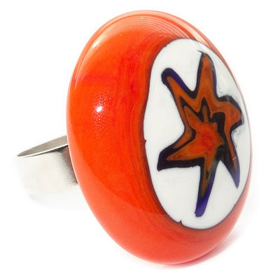 Ring Orange Star