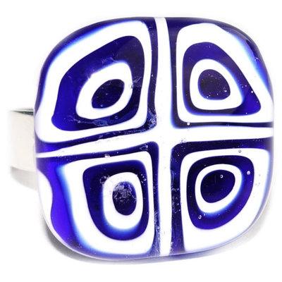 Ring Blue Squarish