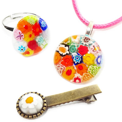 Kinder Sieraden Set Multicolor Flowers