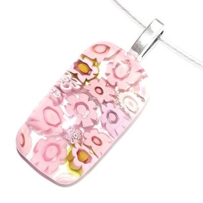 Millefiori glashanger Pink Delight