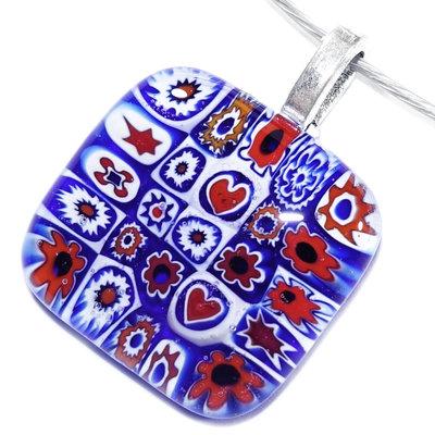 Millefiori Glashanger Red White Blue